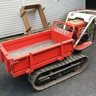 クローラー運搬車 木枠をお付けします。