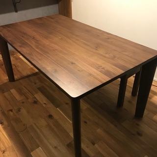 ウォールナット 無垢材 ダイニングテーブル