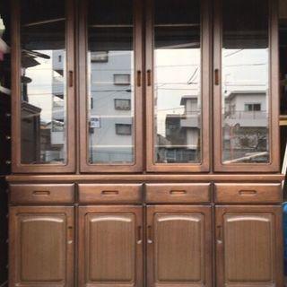 大型 木製 食器棚 幅154cm×奥行45cm×高さ189cm
