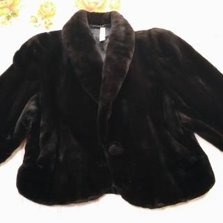★値下げ★ミンク毛皮 ショートコート ブラック サイズフリー