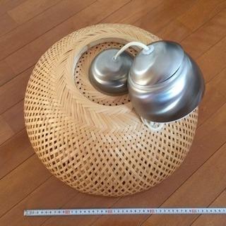 照明 竹編み込み イケア製