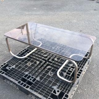 【中古】ガラステーブル(サビあり)