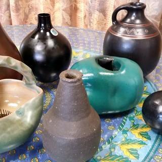 《★差し上げます!7点花器等まとめて》★陶器・ガラス製花器等7種い...