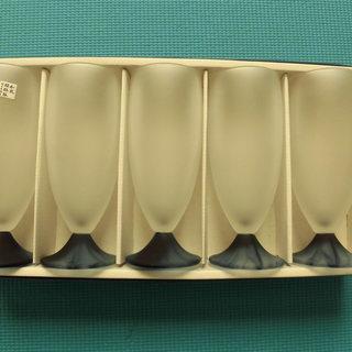渓水・佐々木硝子ビヤーグラス5個セット(新品・未使用)