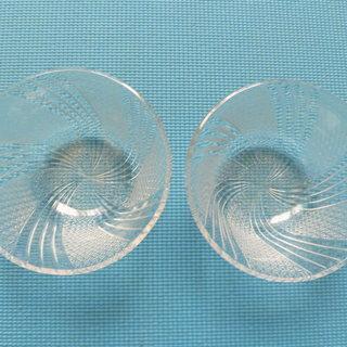 ガラス食器16㎝×2個(中古)