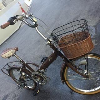 明るいLEDオートライト、籠付き、20インチ折り畳み自転車