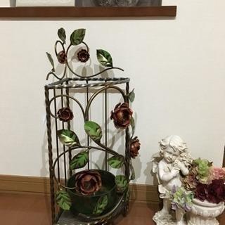 傘立て イタリア製 イタリー 薔薇 バラ かさ