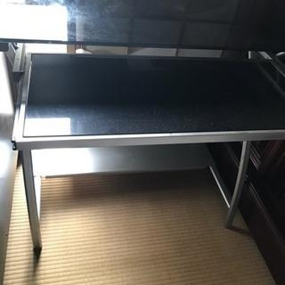 ガラス製 パソコン台