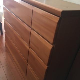 木製 整理ダンス 引き出し4段 収納