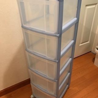 5段引き出しプラスチック製収納家具