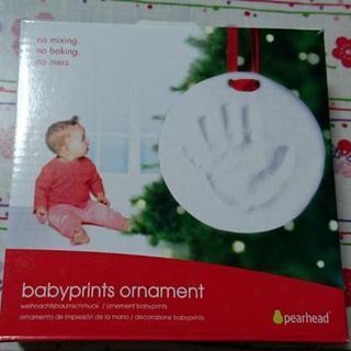 赤ちゃんの手形オーナメント
