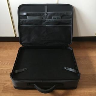 軽量 ビジネスバック 大容量 書類かばん / 商談 出張 旅行 多目的利用鞄 / グレー ショルダーベルト欠品 / 中古品 - 靴/バッグ