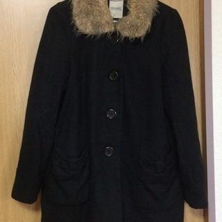 フリーサイズ コート(黒)の画像