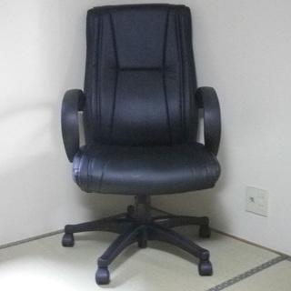 革張り リラックス PU レザー チェア 椅子 イス いす ブラック 黒
