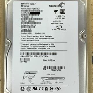 中古内蔵ハードディスク (型番:ST340014AS,商品ID:...