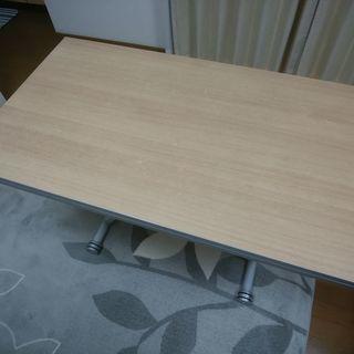 サリスカンディー2 リフティングテーブル (アルミ/オーク)