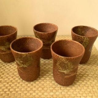 陶器のフリーカップ5個セット(未使用)