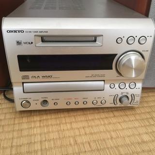 オンキヨー CD、MDコンポ。