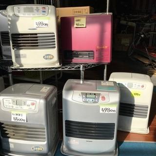 各種ファンヒーター灯油、ガス、電気
