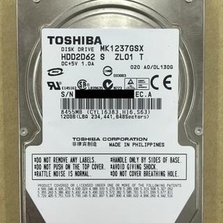 中古内蔵ハードディスク (型番:MK1237GSX,商品ID:124)