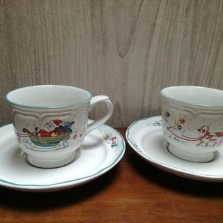 Yamaka 日本製 クリスマス コーヒーカップ 2客セット(未使用)