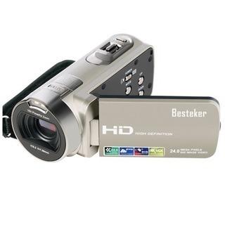 ポータブルビデオカメラ 2400万画素 HD1080P 16倍デ...