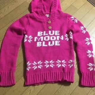 ブルームーンブルー  フード付セーター