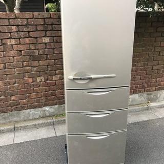 4ドア355Lサンヨー冷蔵庫SR-361G白