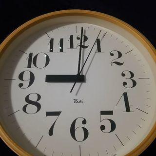 riki ワタナベリキ リキ 壁掛け 掛け時計 電波時計