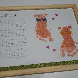 新年会☆ママと赤ちゃんと手形足形アート