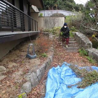 福岡不用品回収落ち葉の清掃