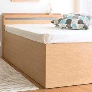 美品 値下 激安 深型 収納 大容量 セミダブル ベッド 照明 ...