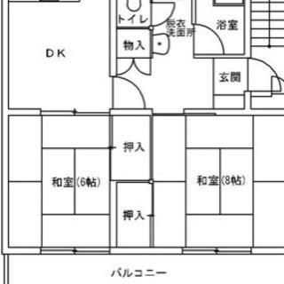 志布志安楽リフォーム自由!2Dk,8畳6畳(駐車場1台無料)外国...