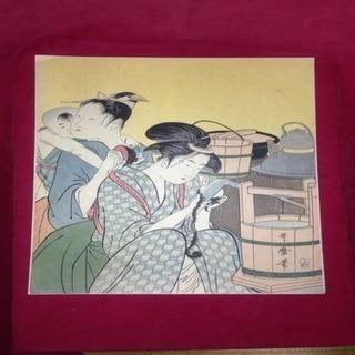 歌磨呂 台所美人 国立博物館臓版
