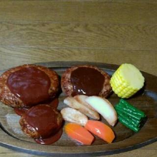 食品サンプル ハンバーグプレート