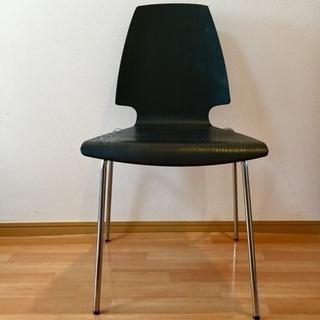 IKEA VILMAR ブラウンブラック クロムメッキ 2脚セット