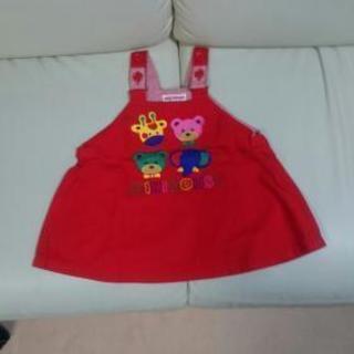 ミキハウス  赤色のスカート  90サイズ