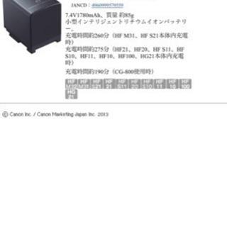 キヤノン ビデオカメラ バッテリーパック BP-819/809 セット