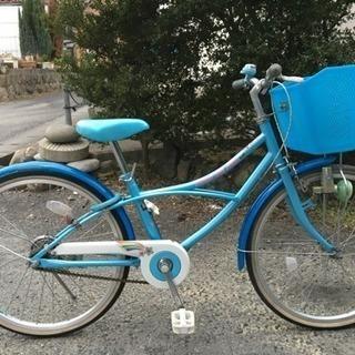 ジュニア自転車(22インチ、女の子用)