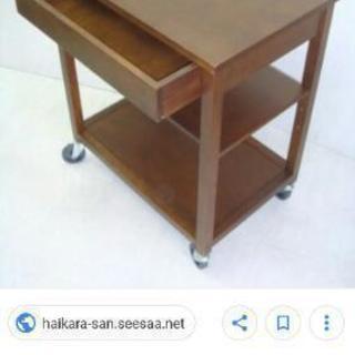 キッチンワゴン 木製 無印良品 ジモティーのみの値下げの画像