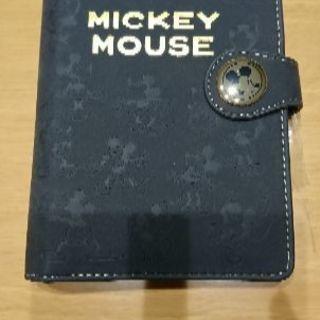 【新品】ミッキー型押しシステム手帳