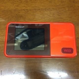 WiMAX2+  ルーター  オレンジ  使用期間1年