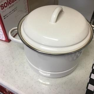 蒸し器付きホーロー鍋