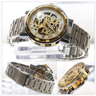 ♡新品自動巻き♡超COOLな腕時計ホワイトタイプ