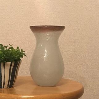 花瓶 フラワーベース 手作り白泡✖️紫 USED