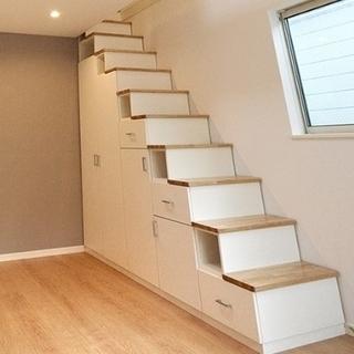 使い方色々 階段タイプの収納