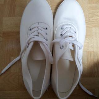 白い靴 24 未使用