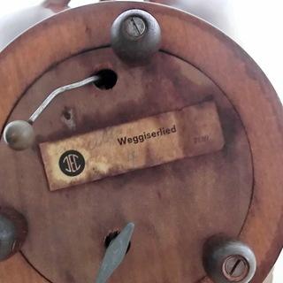 VTG JEC Weggiserlied木彫り葡萄リーフ型/葉型オルゴール7189 Vintage JEC Weggiserlied 7189 Schweizerlandler Music Box Carved Wood Leaf Bon Bon Plate Bowl   キャンディートレーフルーツトレー vintageキャンディトレイぶどうブドウスイスオルゴール - その他