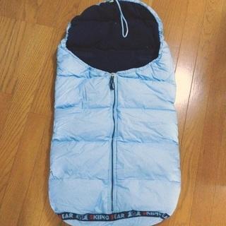 寝袋にも❗️雪でも安心 ダウンふかふか 裏フリースのフットマフ