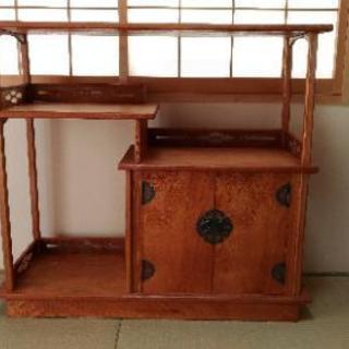 屋久杉の茶棚